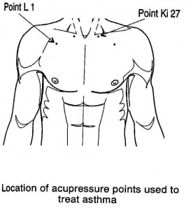 image protraying pressure points for asthma
