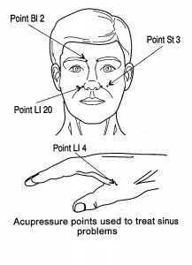 image protraying sinus pressure points